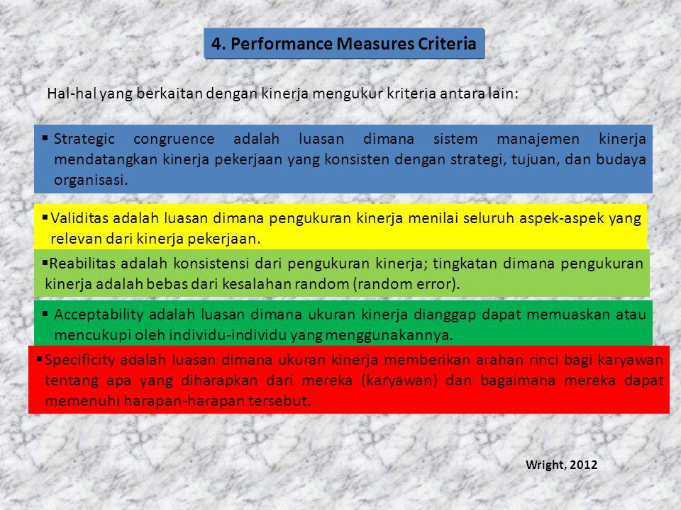 4. Performance Measures Criteria