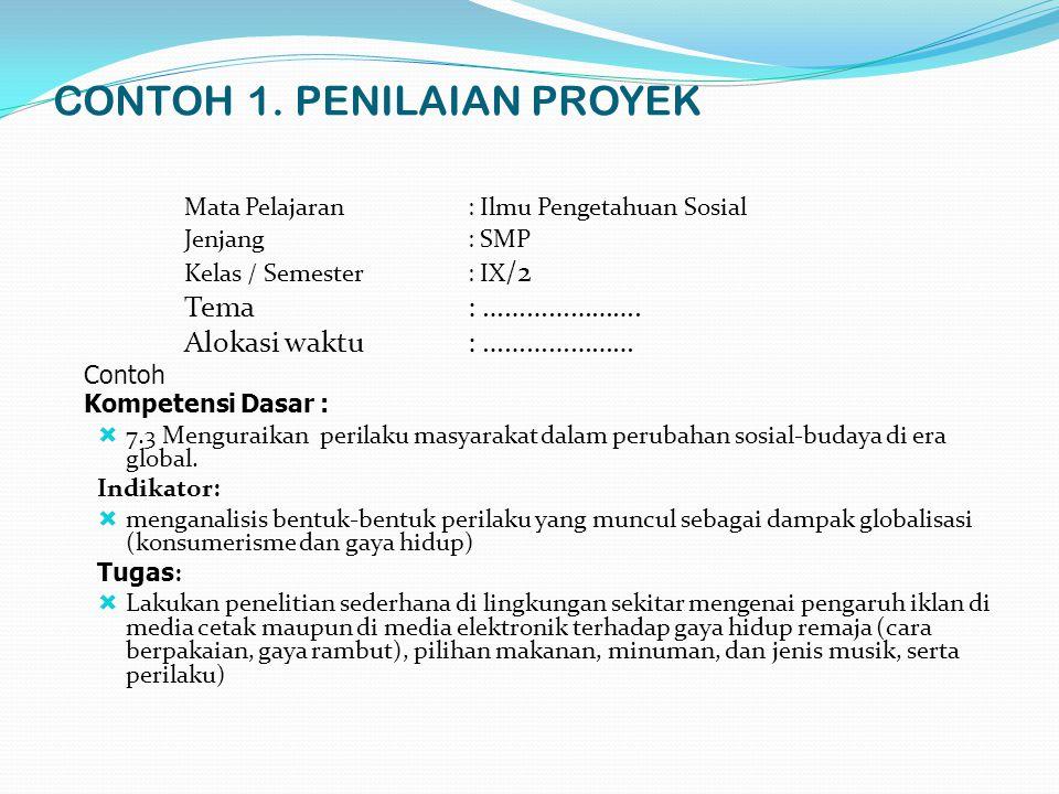 CONTOH 1. PENILAIAN PROYEK