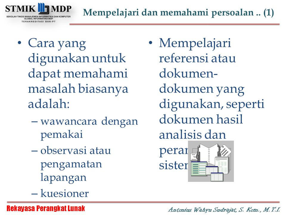 Mempelajari dan memahami persoalan .. (1)