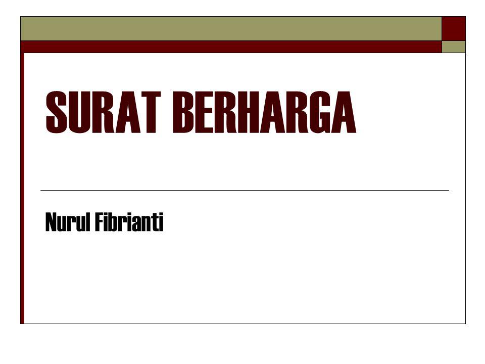 SURAT BERHARGA Nurul Fibrianti
