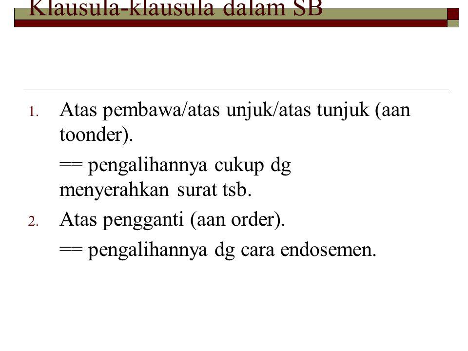 Klausula-klausula dalam SB