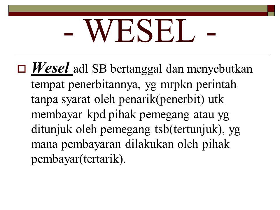 - WESEL -