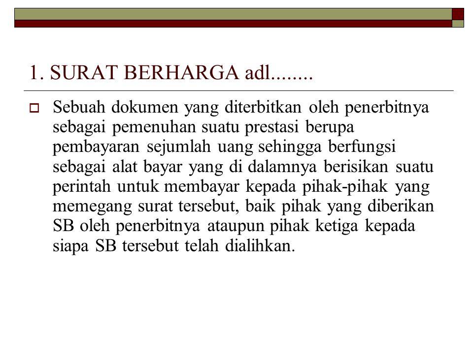1. SURAT BERHARGA adl........