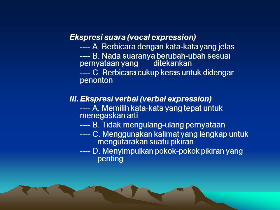Ekspresi suara (vocal expression)