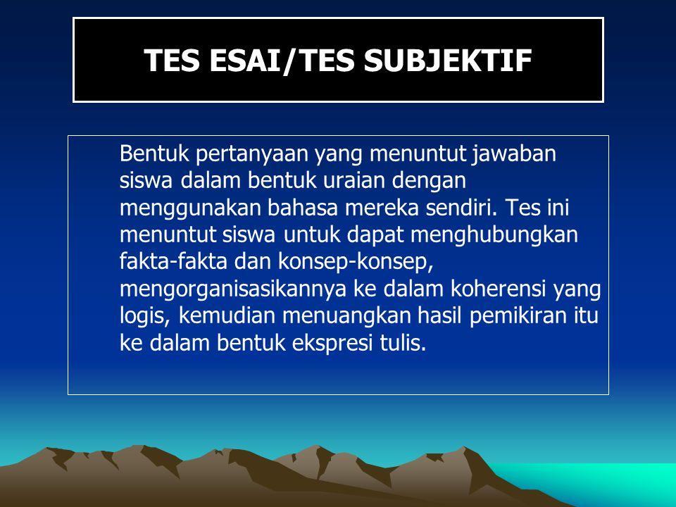 TES ESAI/TES SUBJEKTIF