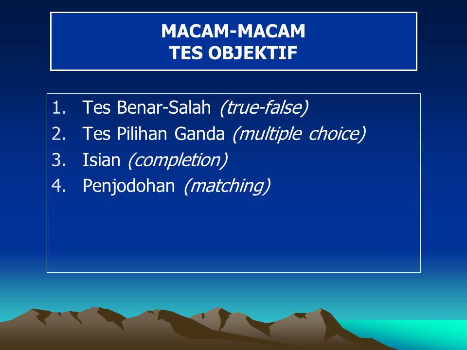 MACAM-MACAM TES OBJEKTIF