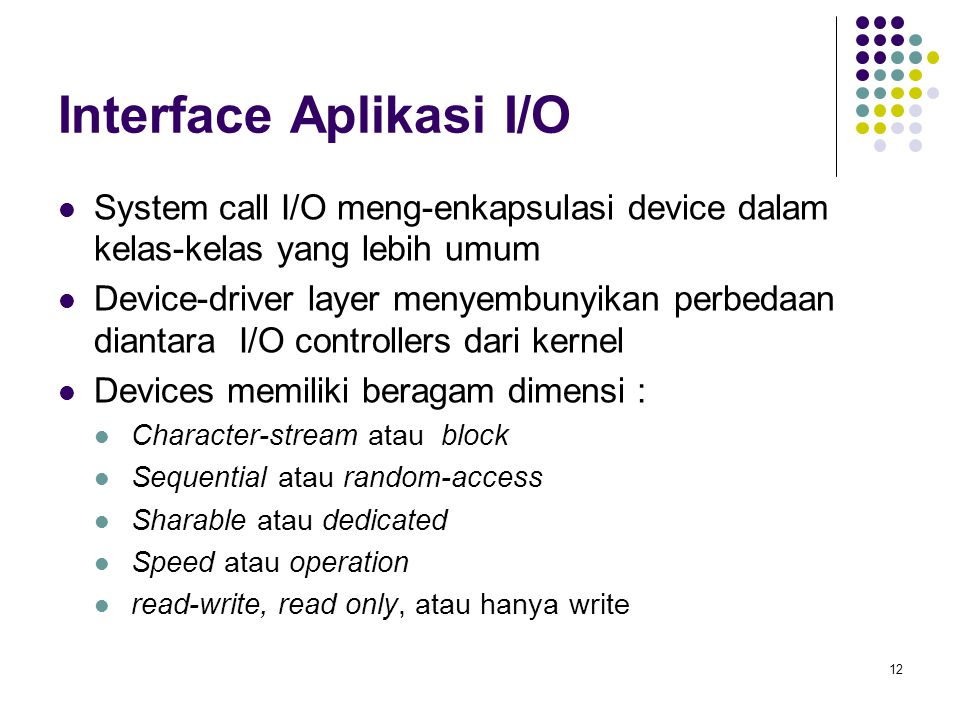 Interface Aplikasi I/O