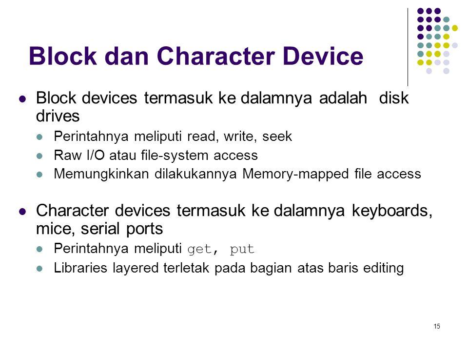Block dan Character Device