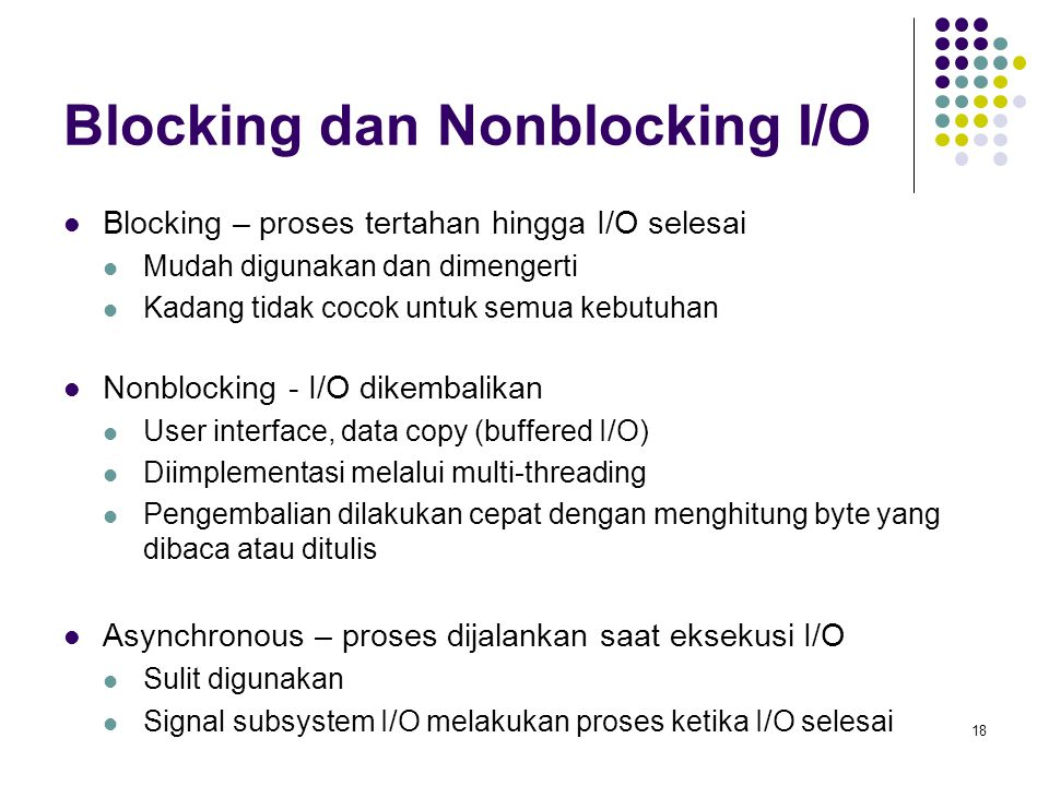 Blocking dan Nonblocking I/O