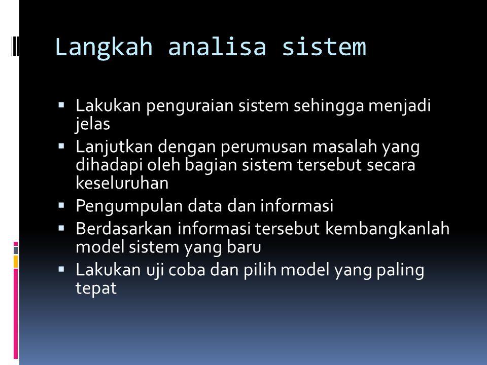 Langkah analisa sistem