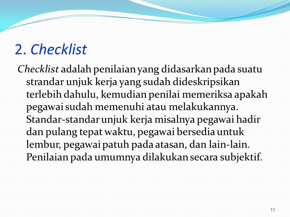 2. Checklist