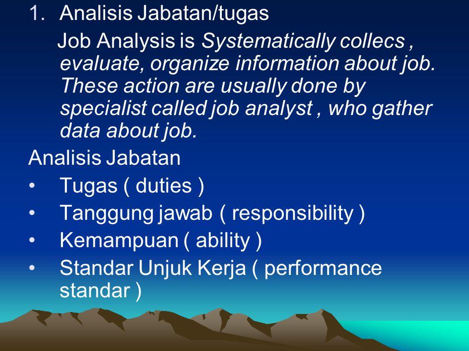 Analisis Jabatan/tugas