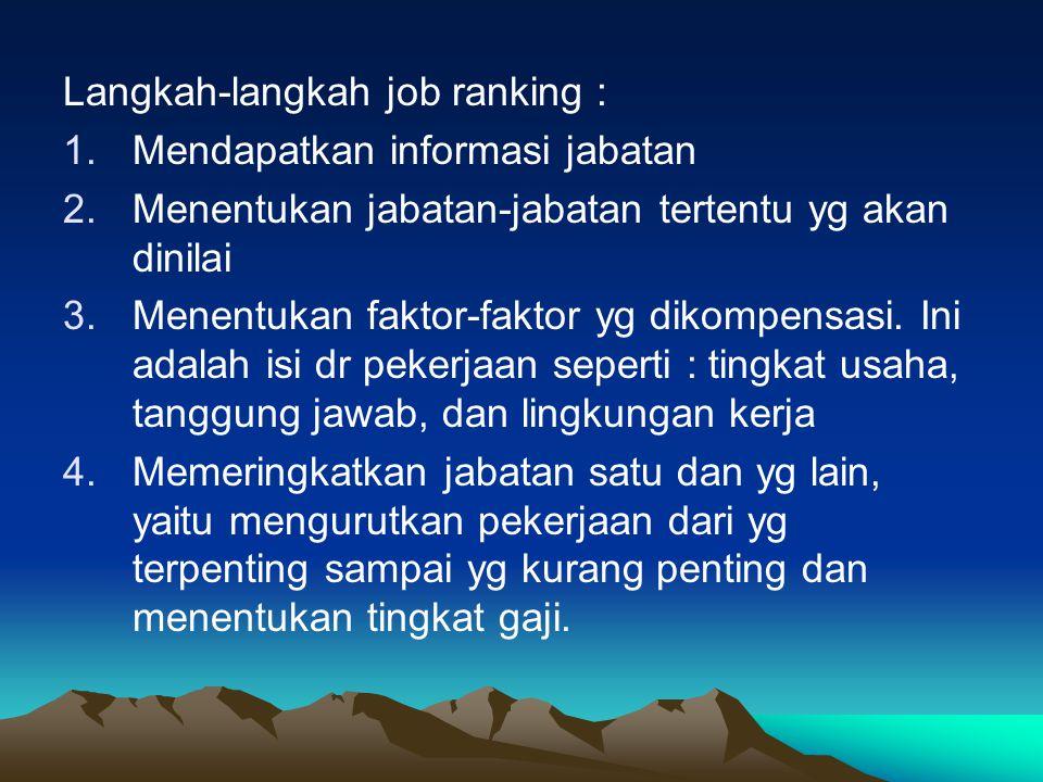 Langkah-langkah job ranking :