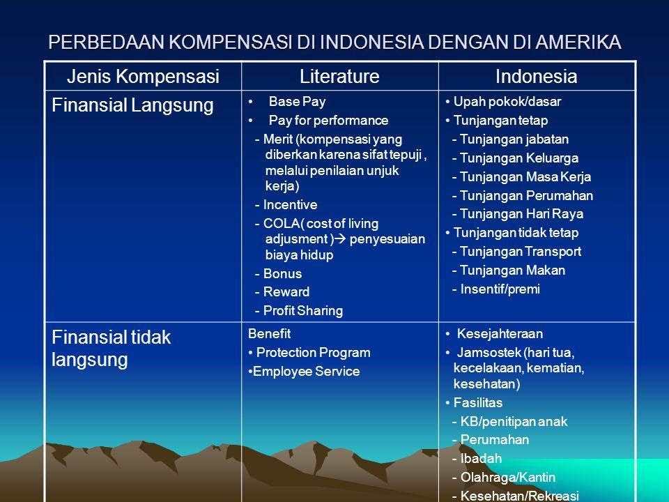 PERBEDAAN KOMPENSASI DI INDONESIA DENGAN DI AMERIKA