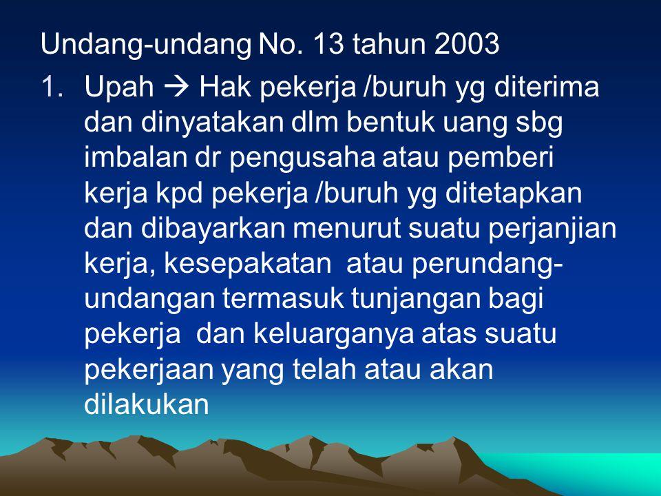 Undang-undang No. 13 tahun 2003