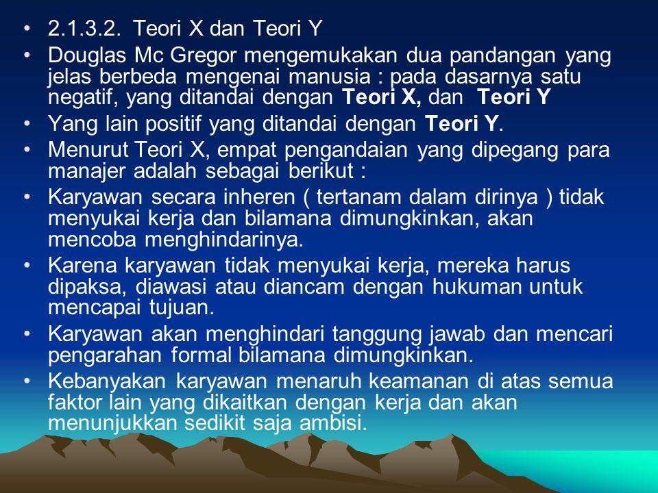 2.1.3.2. Teori X dan Teori Y