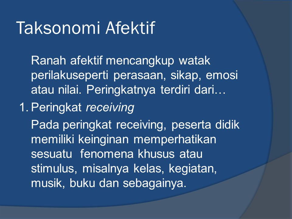Taksonomi Afektif