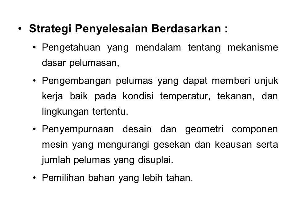 Strategi Penyelesaian Berdasarkan :