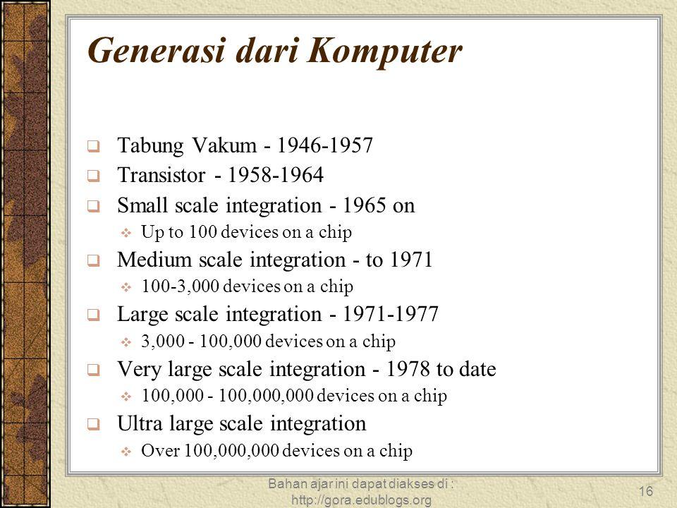 Generasi dari Komputer