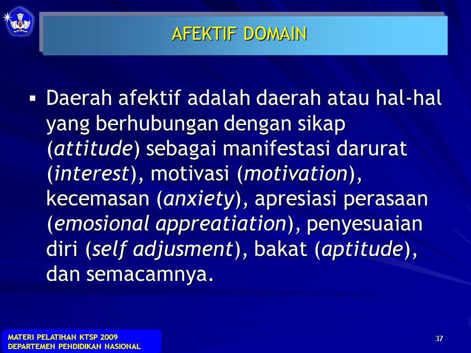 AFEKTIF DOMAIN