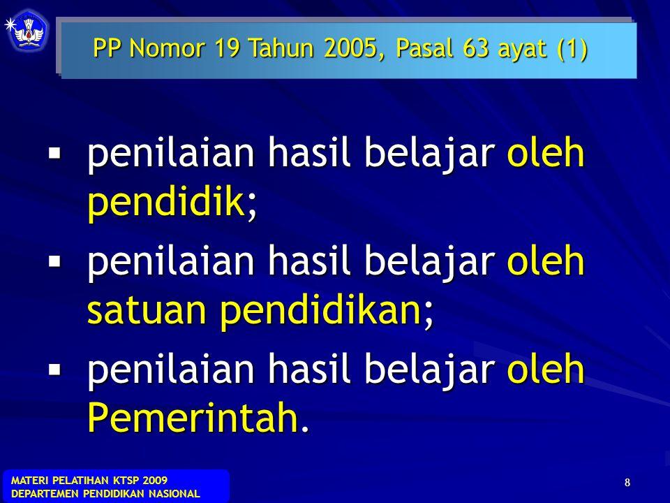 PP Nomor 19 Tahun 2005, Pasal 63 ayat (1)