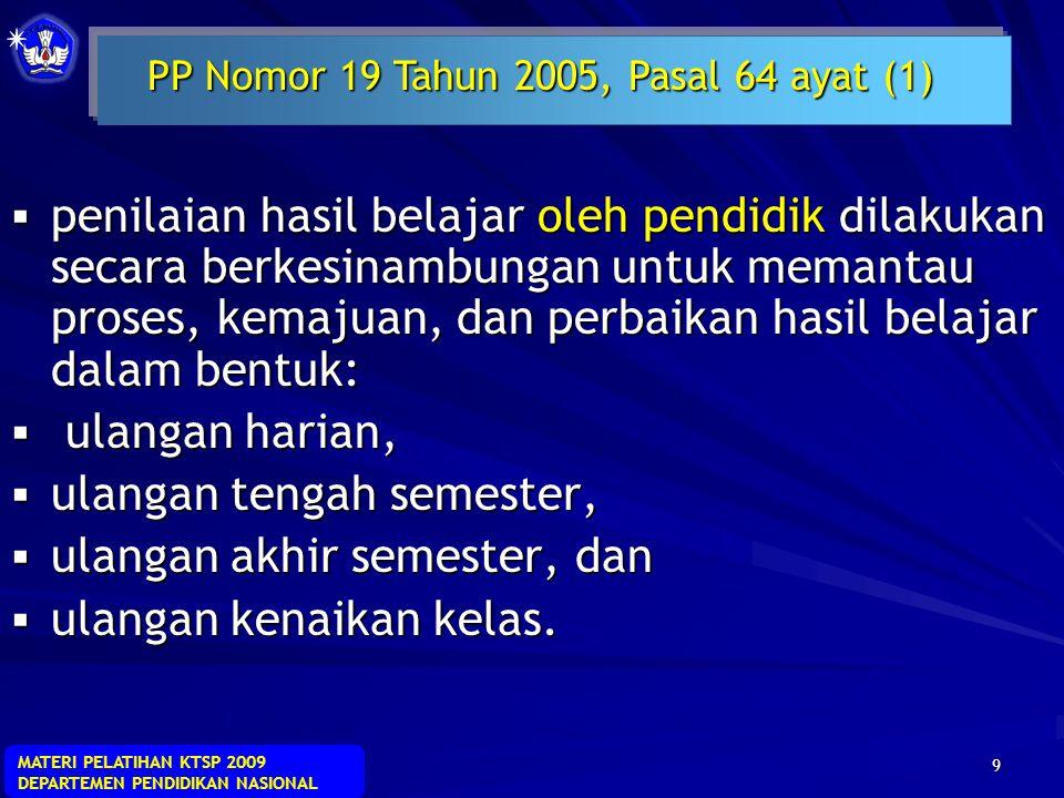 PP Nomor 19 Tahun 2005, Pasal 64 ayat (1)