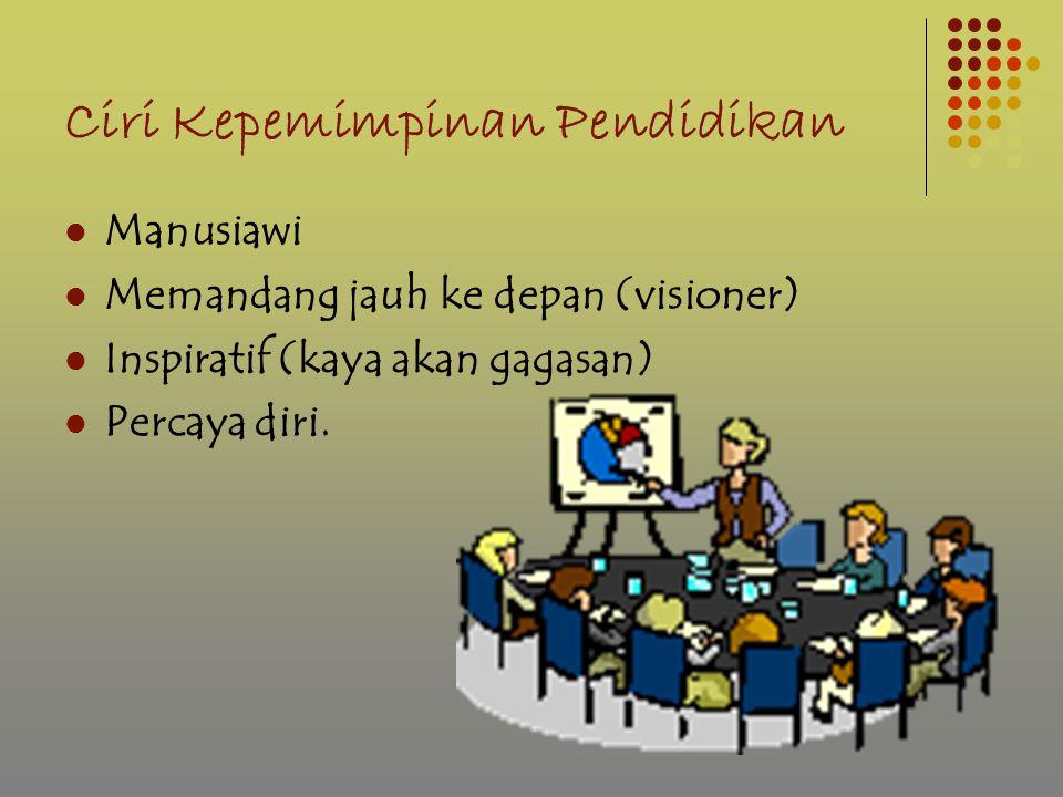 Ciri Kepemimpinan Pendidikan