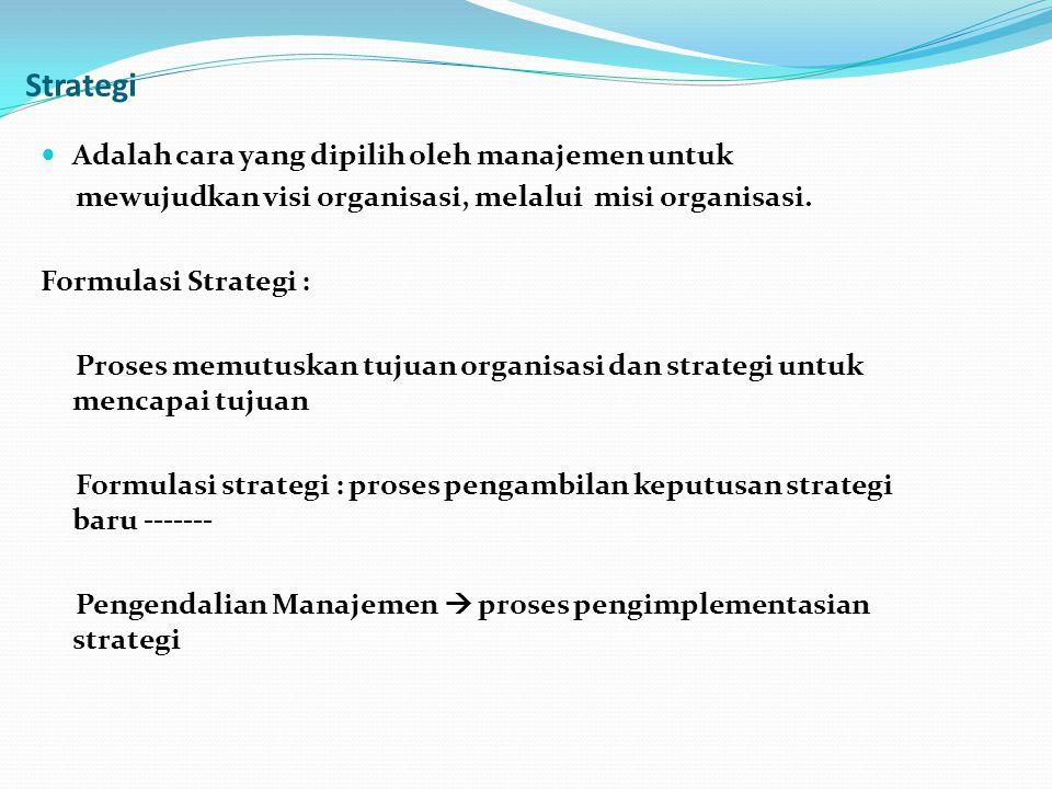 Strategi Adalah cara yang dipilih oleh manajemen untuk