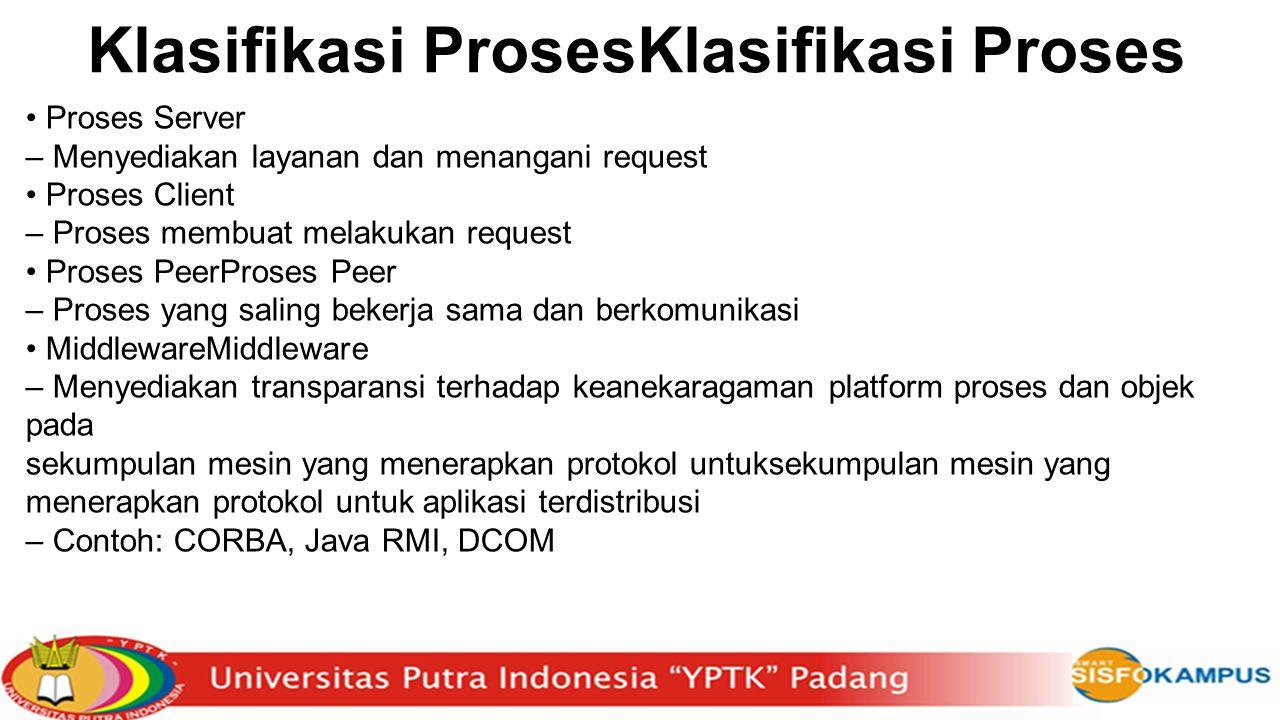 Klasifikasi ProsesKlasifikasi Proses