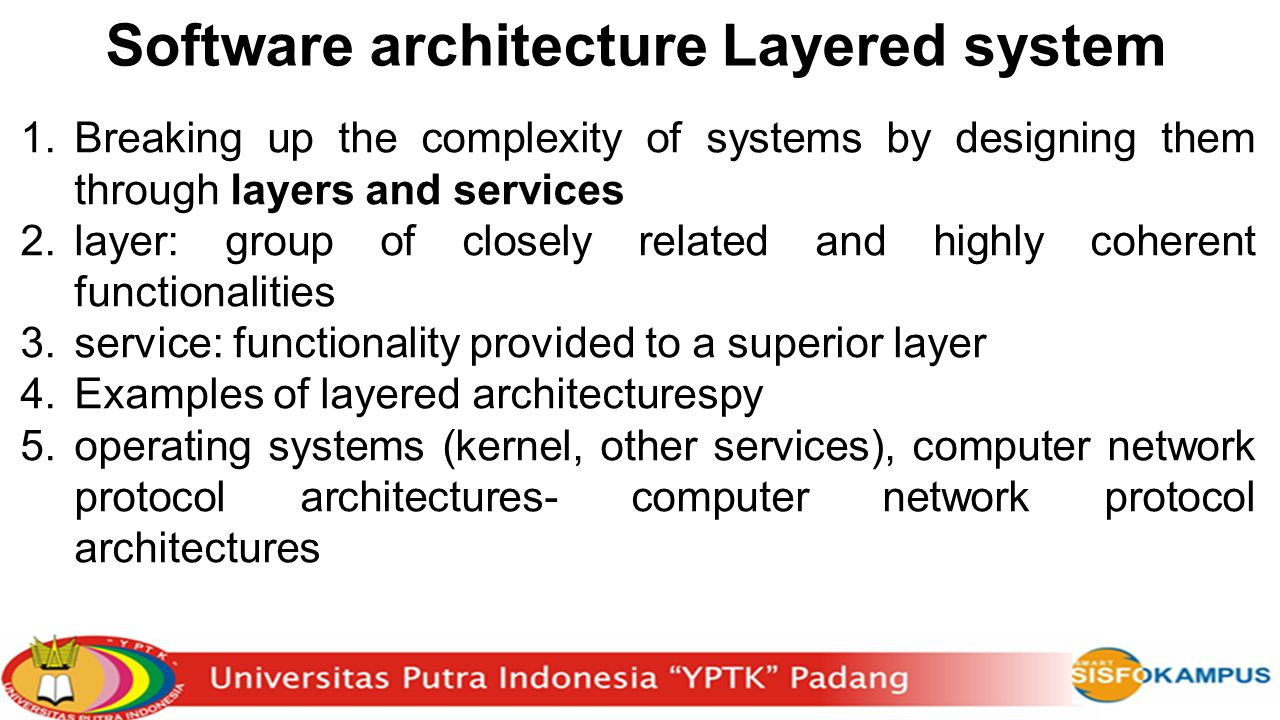 Software architecture Layered system