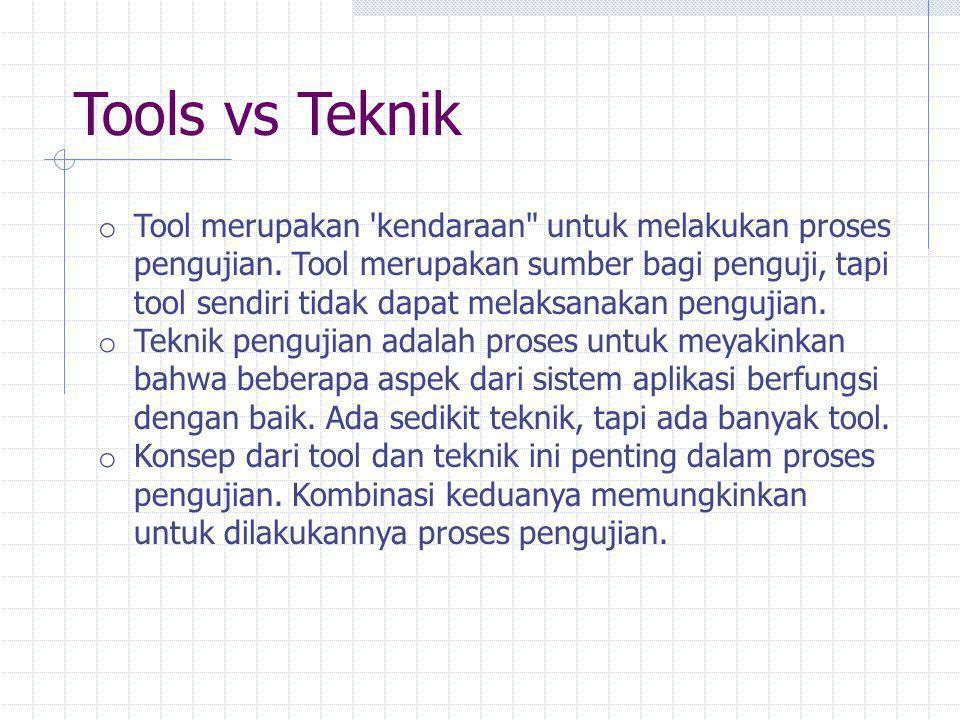 Tools vs Teknik