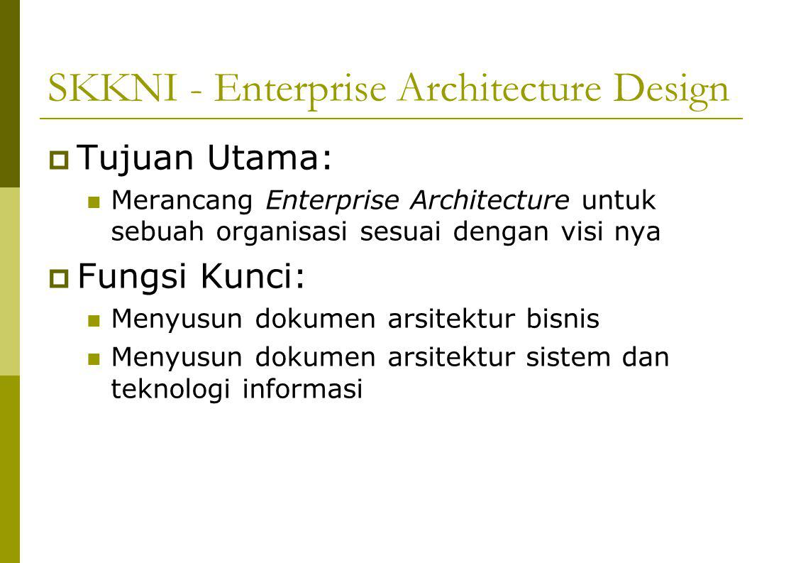SKKNI - Enterprise Architecture Design