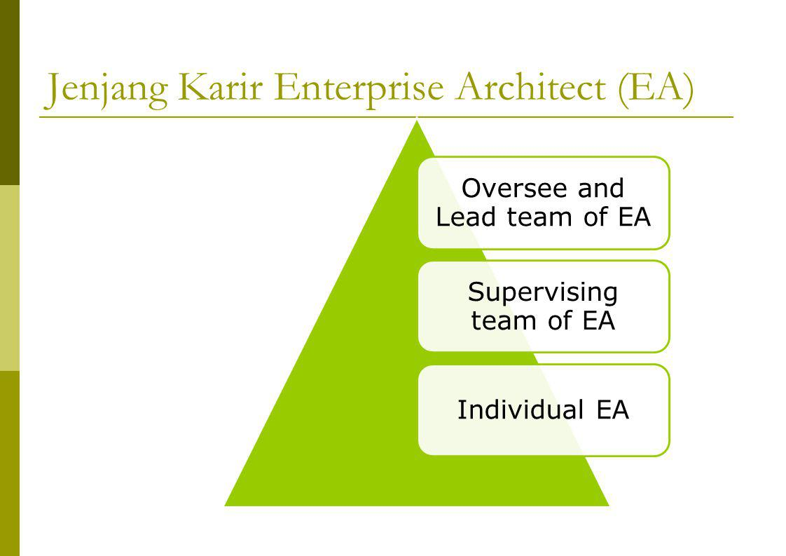 Jenjang Karir Enterprise Architect (EA)