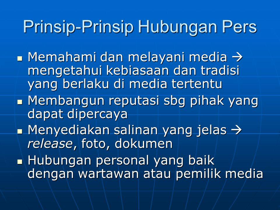 Prinsip-Prinsip Hubungan Pers
