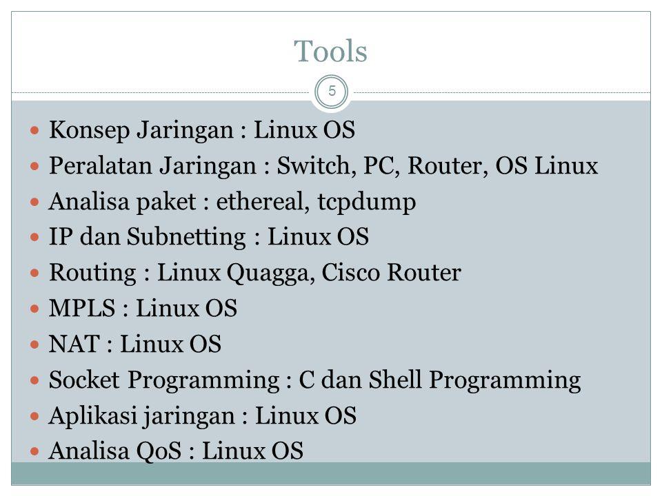 Tools Konsep Jaringan : Linux OS