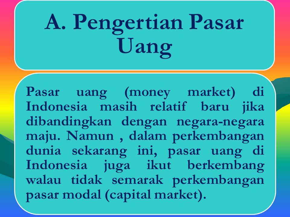 A. Pengertian Pasar Uang