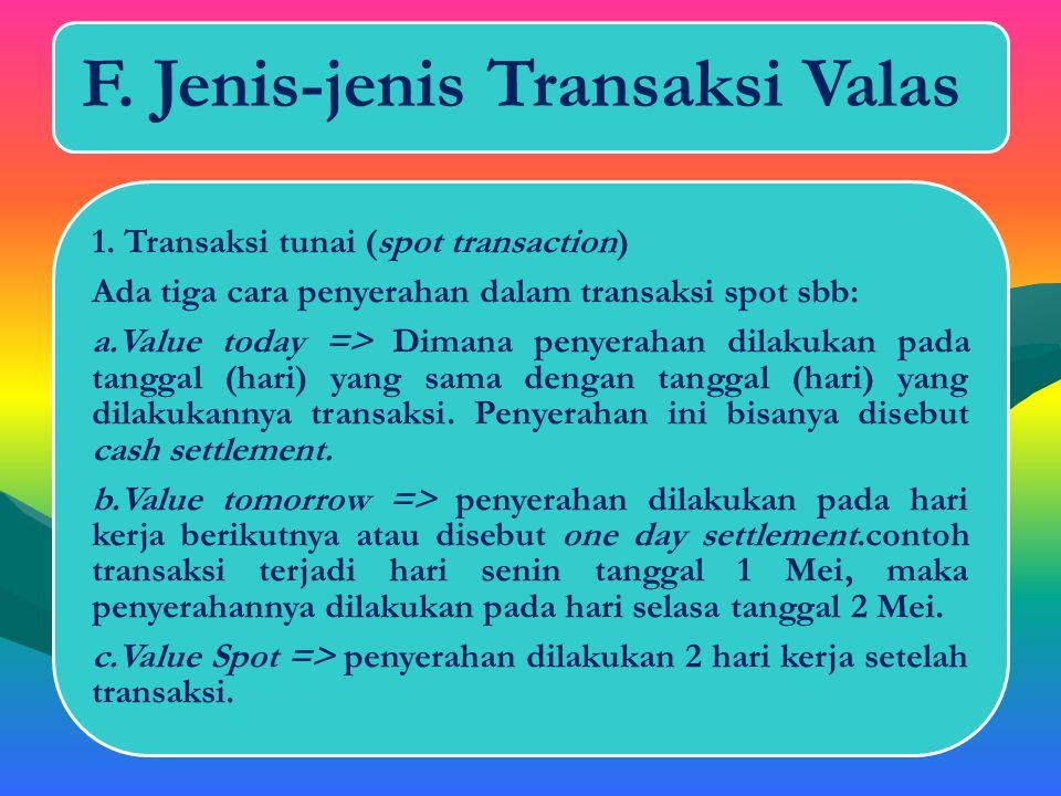 F. Jenis-jenis Transaksi Valas