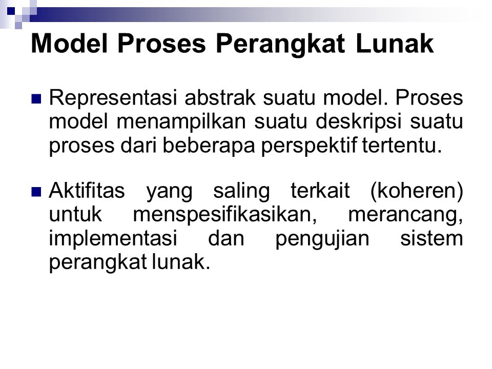 Model Proses Perangkat Lunak