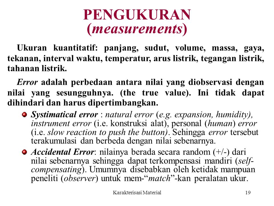 PENGUKURAN (measurements)