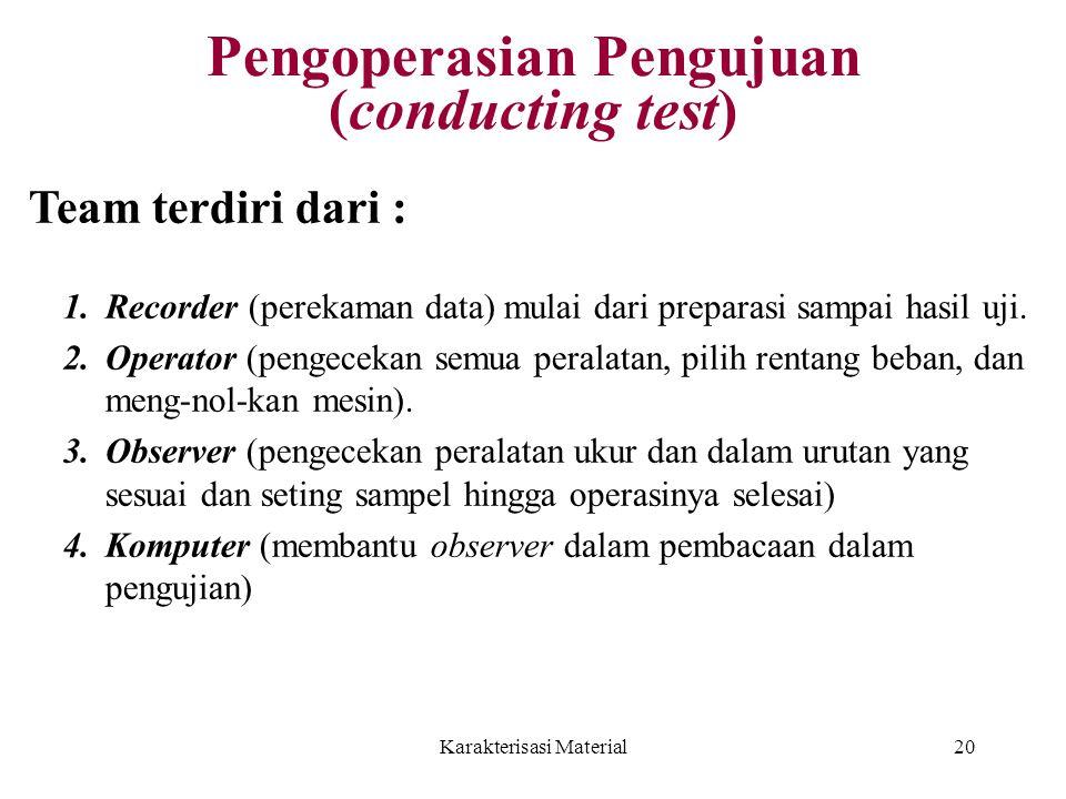 Pengoperasian Pengujuan (conducting test)
