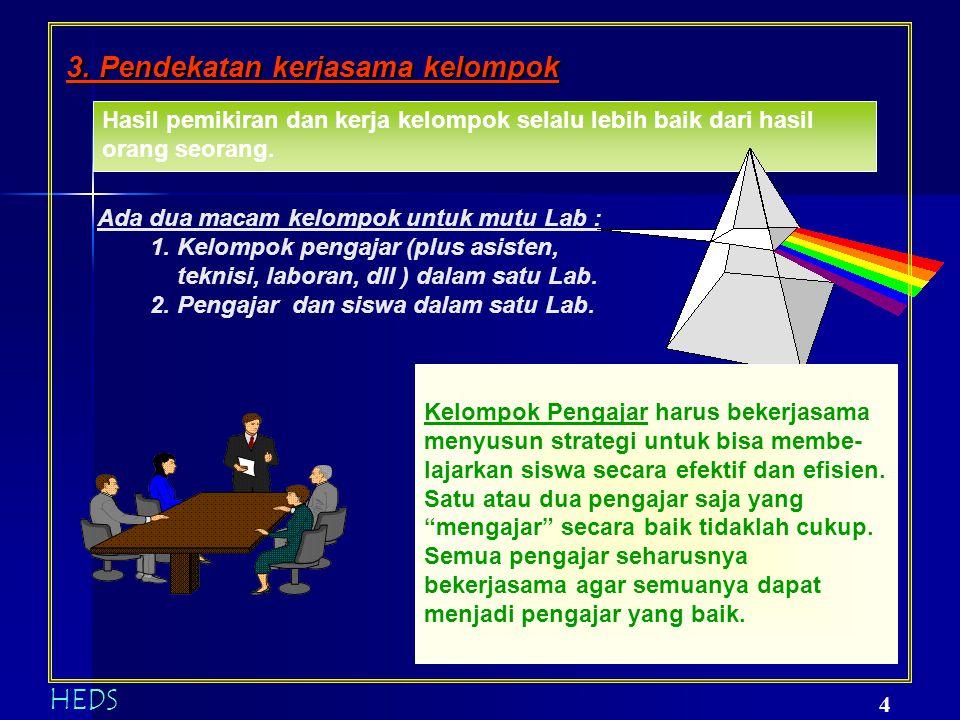 3. Pendekatan kerjasama kelompok