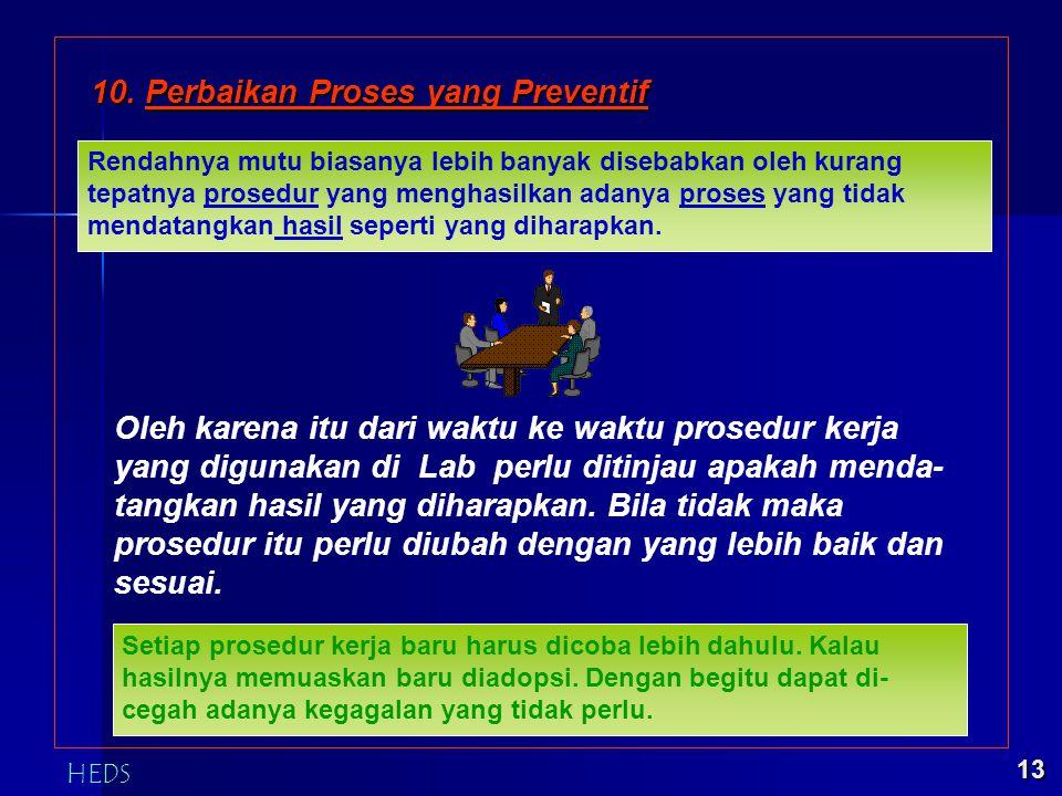 10. Perbaikan Proses yang Preventif