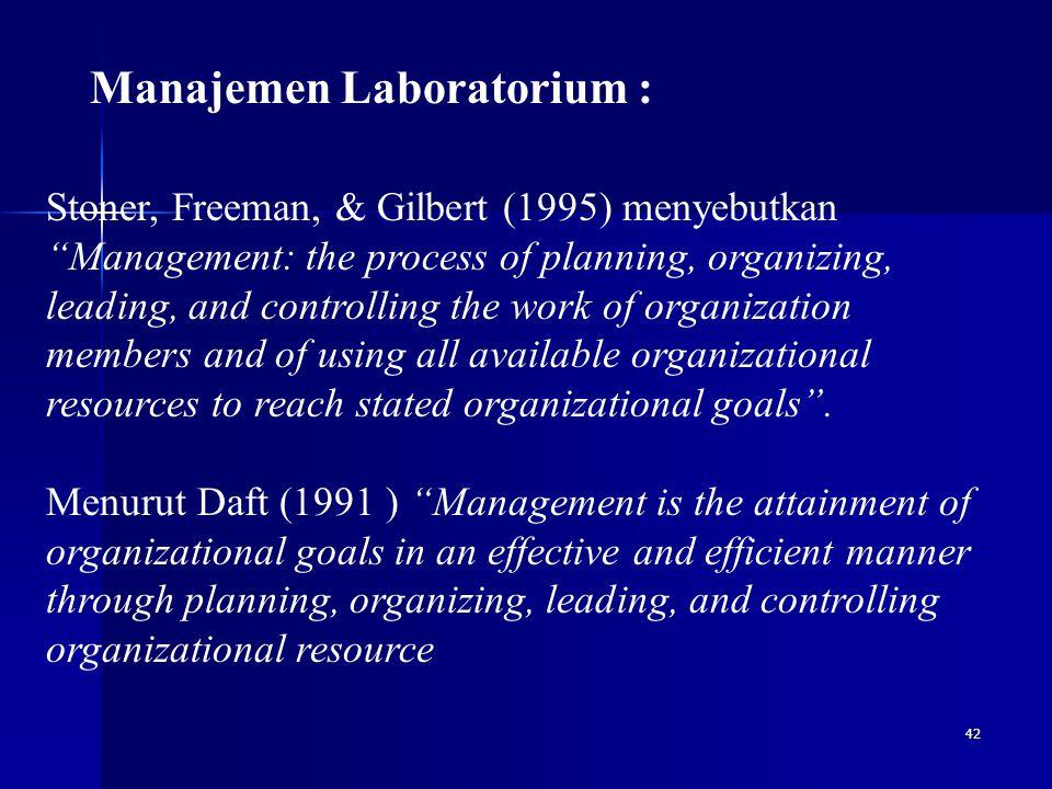 Manajemen Laboratorium :