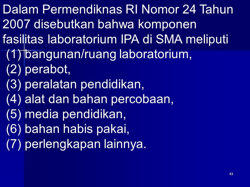 Dalam Permendiknas RI Nomor 24 Tahun 2007 disebutkan bahwa komponen