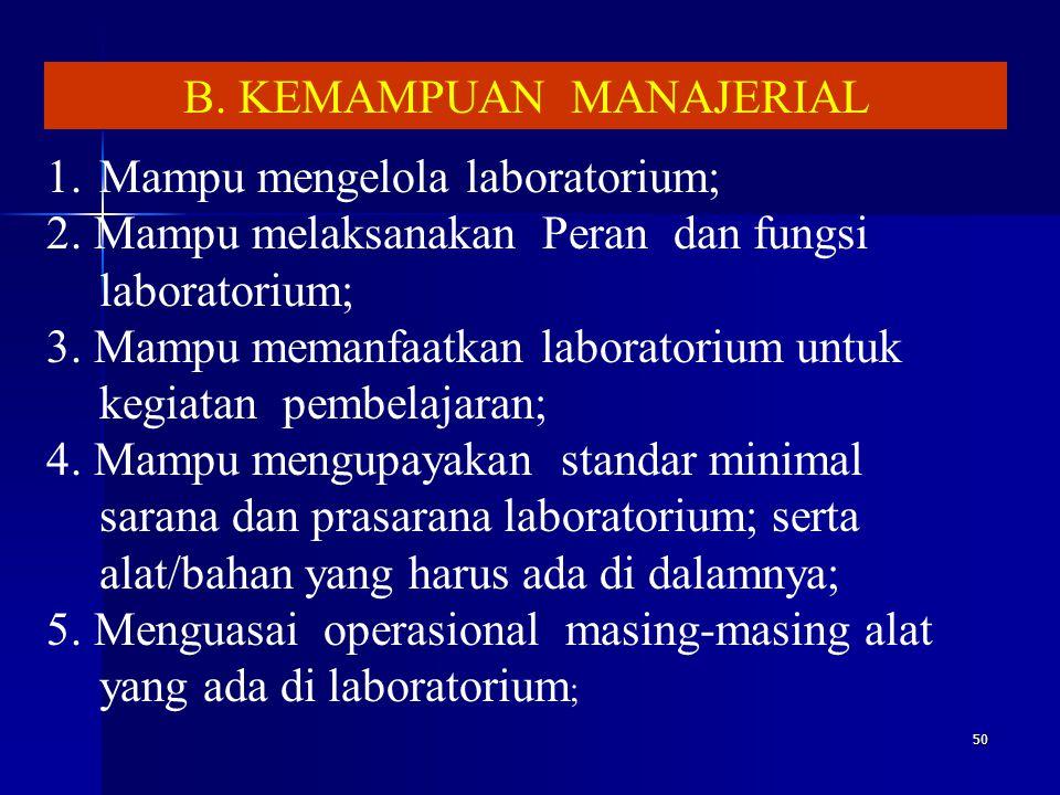 B. KEMAMPUAN MANAJERIAL
