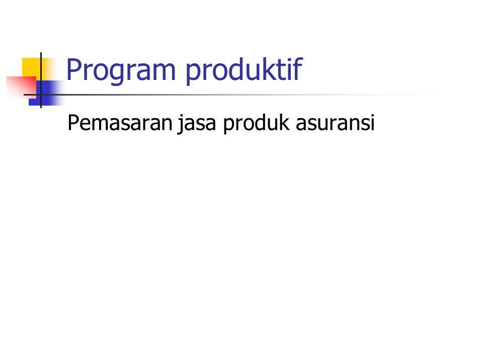 Program produktif Pemasaran jasa produk asuransi
