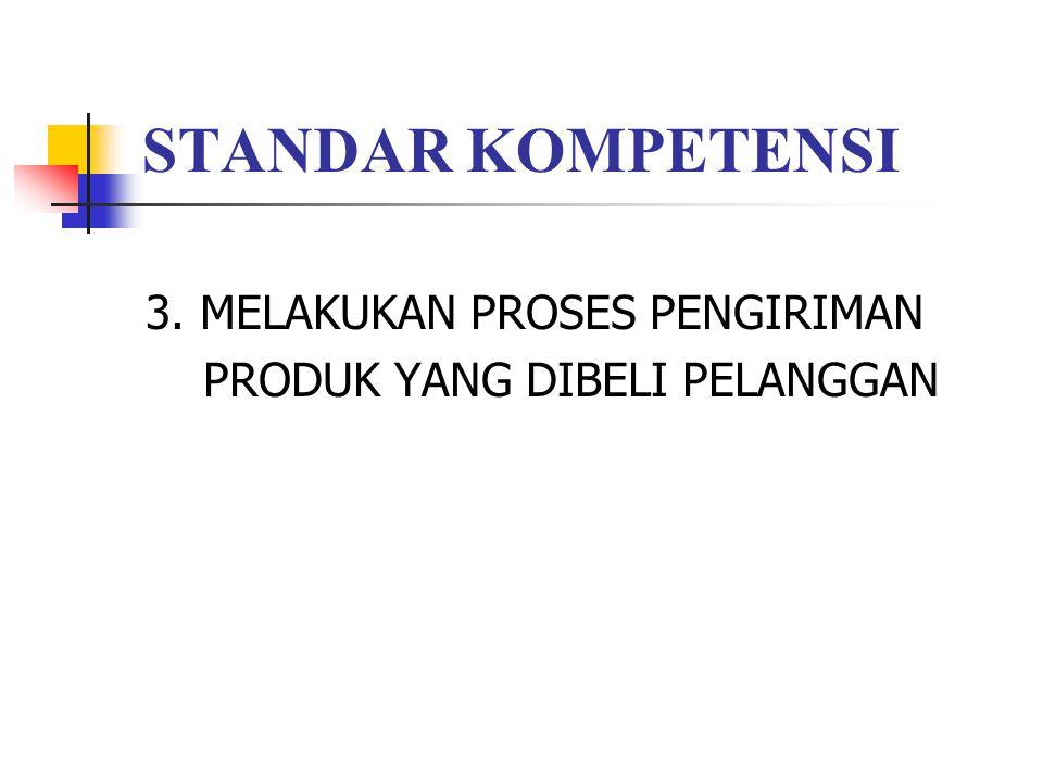 STANDAR KOMPETENSI 3. MELAKUKAN PROSES PENGIRIMAN