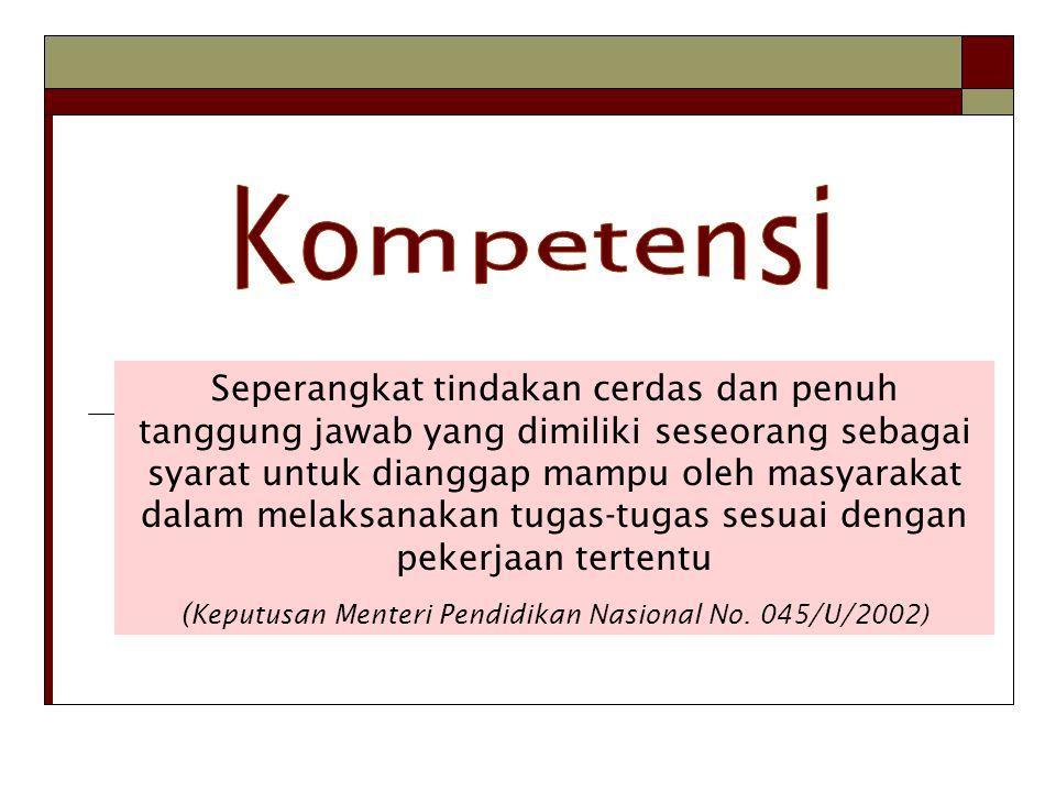 (Keputusan Menteri Pendidikan Nasional No. 045/U/2002)