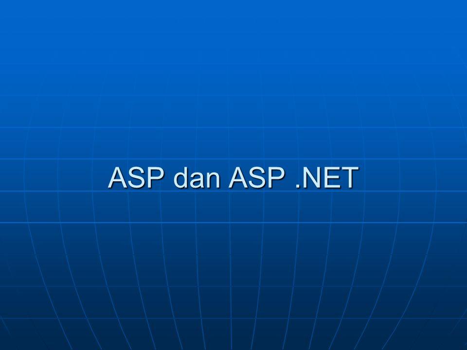 ASP dan ASP .NET