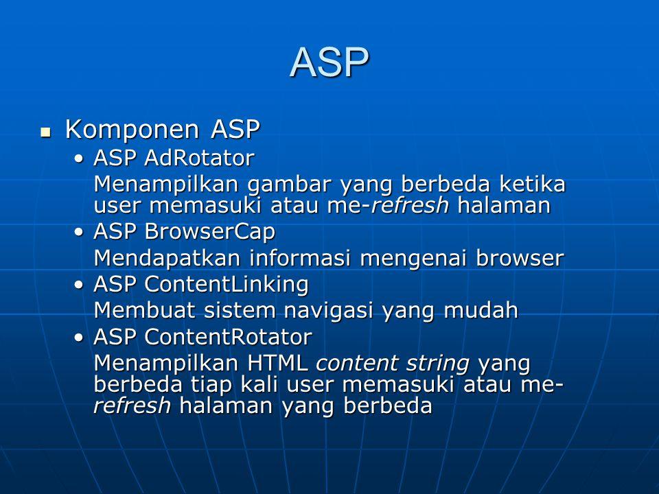ASP Komponen ASP ASP AdRotator